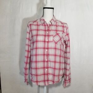 Paige Pink Plaid Button Up